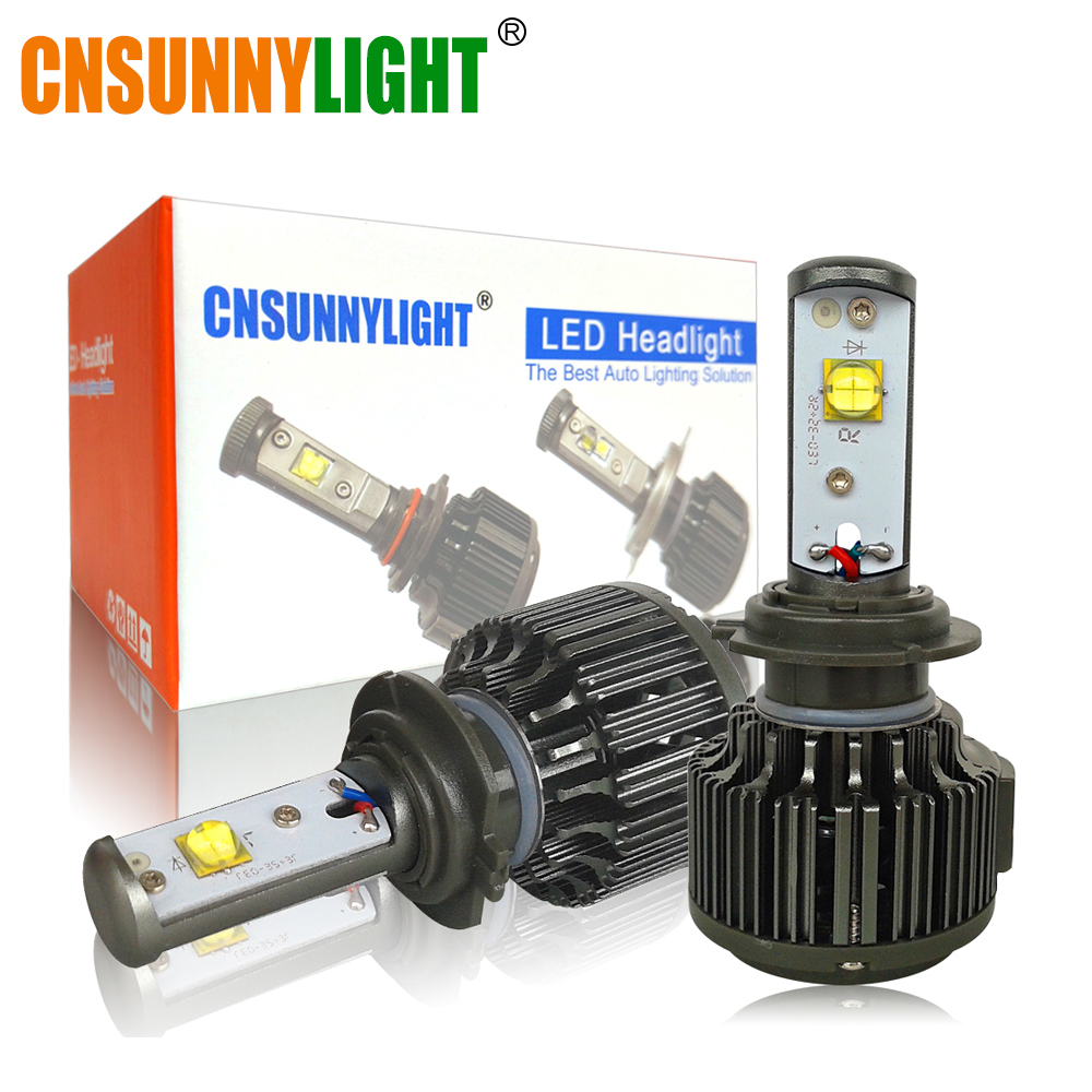 CNSUNNYLIGHT H7 LED CAR HEADLIGHT 30W 3600LM BULB H8 H9 H11 HB3 HB4 9005 9006 H1 H3 880 Automotive Replacement Light White Bulbs