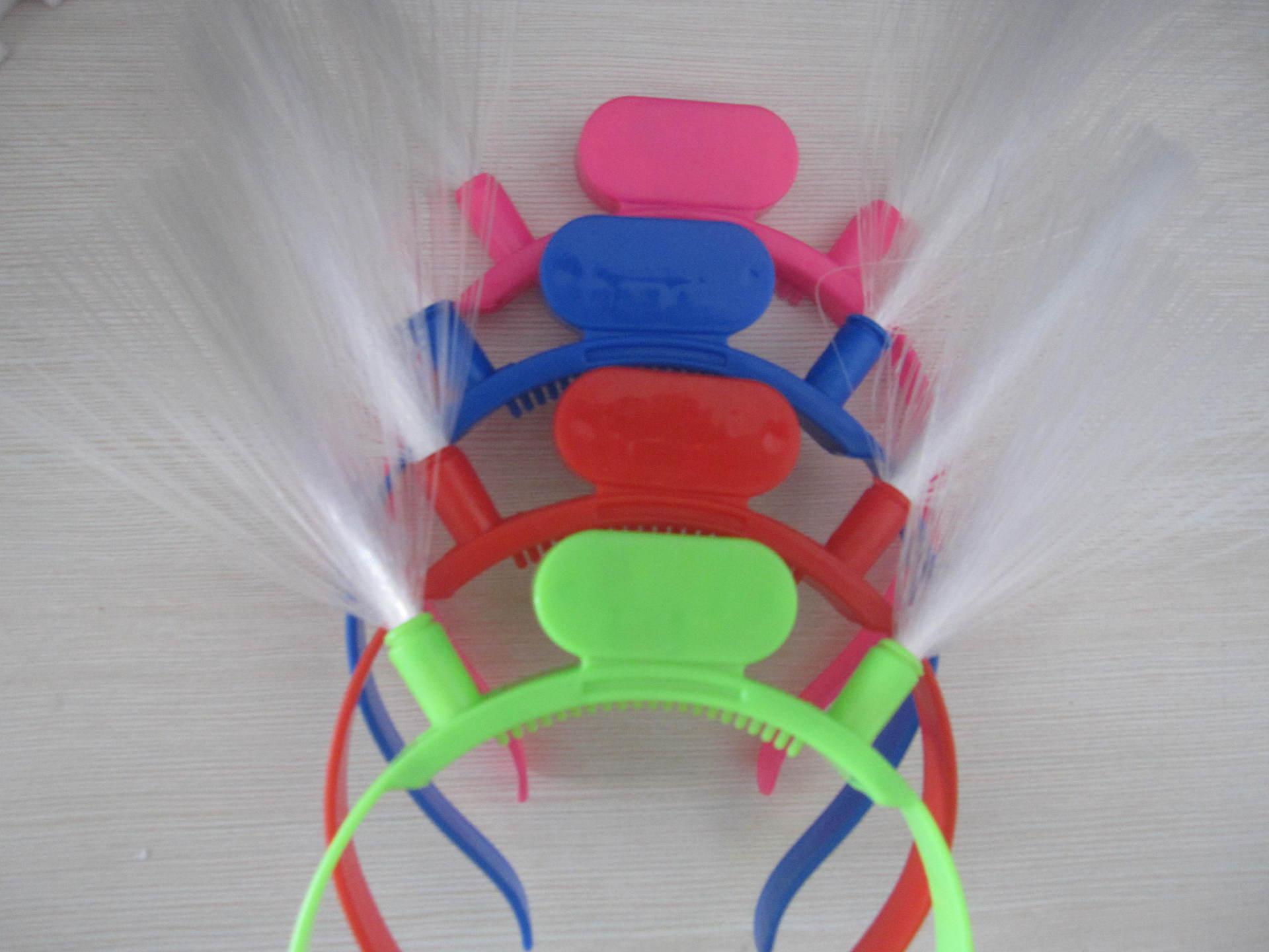 20pcs / lot Svijetleći LED vlakna rog stranka žare traka za kosu - Za blagdane i zabave - Foto 5