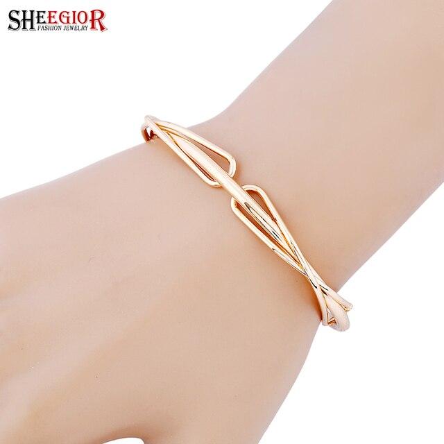 31 Charm Fashion Cuff sheegior Bangles Bracelet Bowknot For Femme Silver Lovely Bangle 28Off Color Us1 Women Gold Accessories Braceletsamp; Men In R45jAL