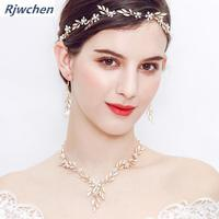 Wedding Jewelry Sets Jewellery Sets For Women Three piece Earring Necklace 2019 New Fashion Bridal Set Jewelry Gift CH043