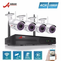 ANRAN Plug And Play P2P 4CH WIFI NVR Kit Outdoor 36 IR Day Night 2 0MP