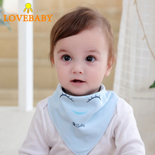 1pc Baby Bibs Cotton Infant Feeding Towel Cartoon Newborn Girls Boys Toddler Triangle Scarf Bandana Cute Burp Cloth