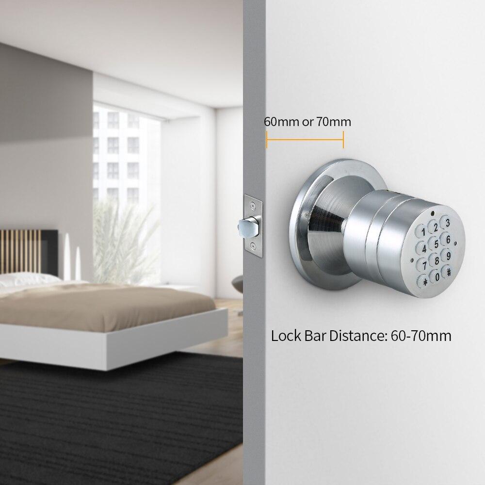 Digital Door Lock Password Keyless Keypad Door Coded Lock Waterproof Privacy Safe Smart Digital Room Combination Door Lock Home - 3