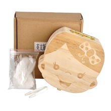 Polygon Favor Baby Tooth Storage Boxes bins baby Milk teeth Save Wood storage box Gift for Kids Boy&Girl Collecting Milk Teeth