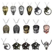Movie Jewelry Punk Warrior Alien Goth Horror Giger Pendant Aliens Predator AVP Necklace Fans Christmas Cosplay Gift Dropshipping