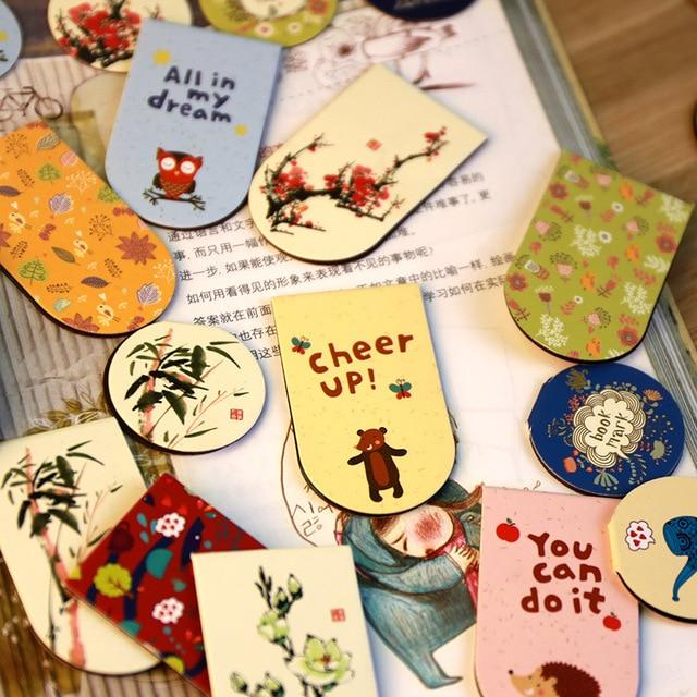 Spedizione gratuita libro marcatore 4 modelli magnete commercio all'ingrosso di stile cinese del fiore animale stile britannico libro di mark