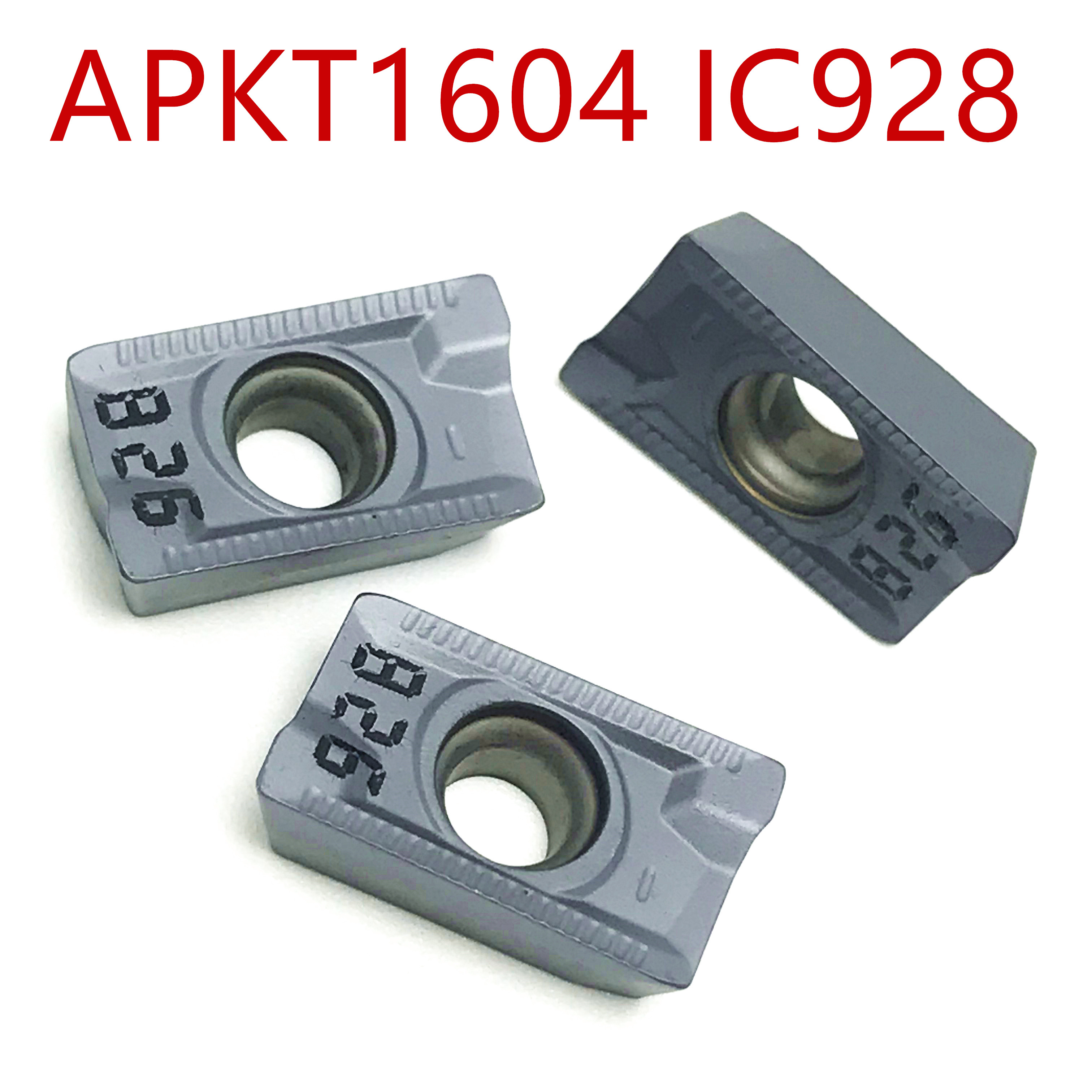 10pcs APKT1604PDR-76 IC928  Carbide Inserts Durable Blades CNC Turning Tools CNC