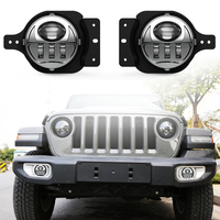 4 inch Auto LED Driving Lamp Fog Light Round 4 Inch Passing Lamp for 2018 2019 Jeep Wrangler Chrome pair