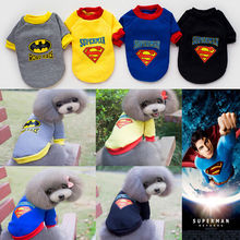 Winter Warm Soft Small Puppy Pet Dog Clothes Superman Sweater Hoodies Jumpsuit Coat Apparel XS-2XL