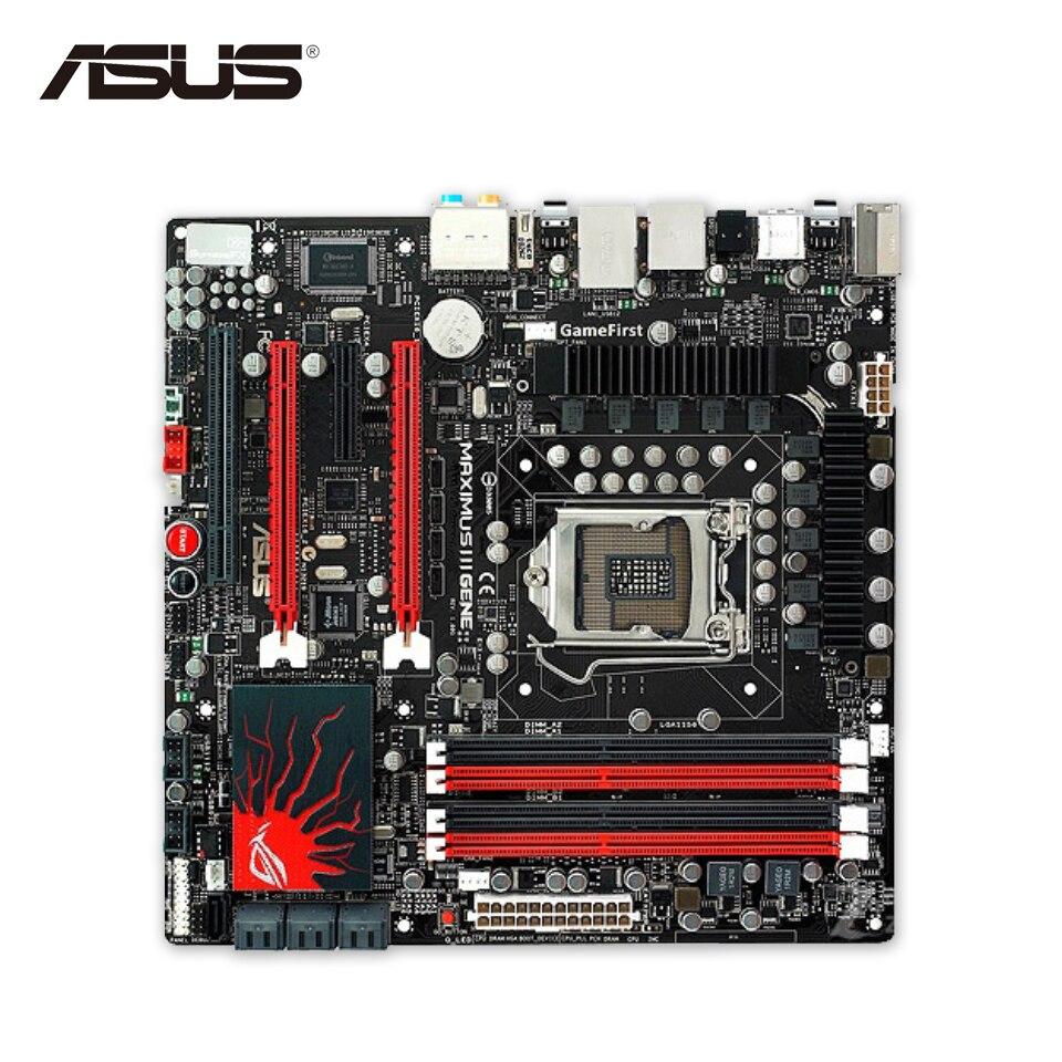Asus Maximus III Gene Stock New Desktop Motherboard M3G P55 Socket LGA 1156 i5 i7 DDR3 16G SATA2 USB2.0 uATX original new desktop motherboard for asus p7h55 m usb3 h55 support socket lga 1156 i7 i5 i3 maximum ddr3 16gb sata2 2 usb3 uatx