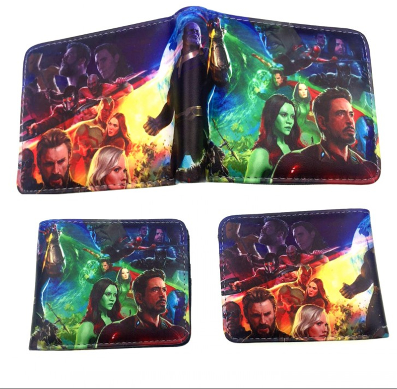 New Design Anime Cartoon wallets marvel Comics Iron Man/Hulk/Captain America wallet card holder Coin Pocket Children Purse Gift dc marvel comics pencil wallets avengers hero captain america spider man iron man rectangle long pencil bag zipper pouch purse