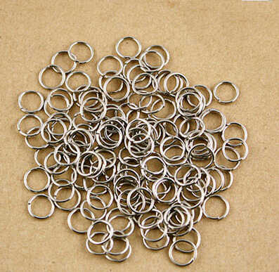 2015 Hot Newest 680Pcs Real Silver Plated 21 Gauge 8mm Diameter Open Jump Rings Jewelry Findings FQA004-69