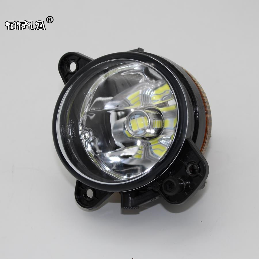 Right Side Car LED Light For Skoda Fabia MK2 2007 2008 2009 2010 Car-Styling LED Front Fog Light Fog Lamp Without Error car right