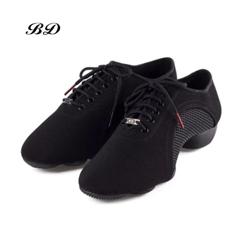 BDDANCE Latin Dance Shoes Sneakers WOMEN MEN SHOES Jazz Modern Shoe Oxford Cloth Non slip rubber