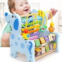 Di legno Montessori Matematica Giocattoli Multifunzione Abaco Giocattoli Intorno Perline Precoce Imparare Sussidi Didattici Giocattoli Educativi Per Il Regalo Dei Bambini