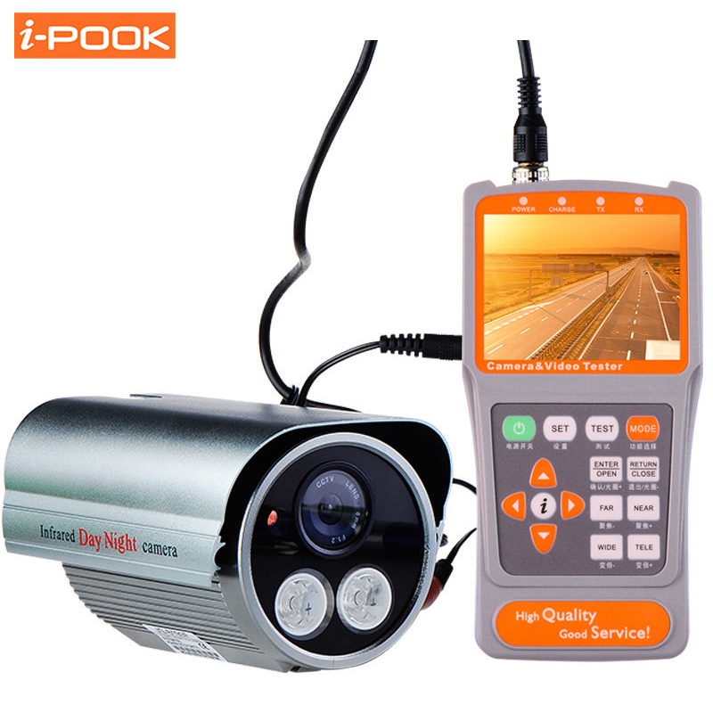 Portable 3.5 LCD Monitor PTZ Operation Tester CCTV Camera Video Audio Test UTP LAN Testing NTSC/PAL Automatically Identifying