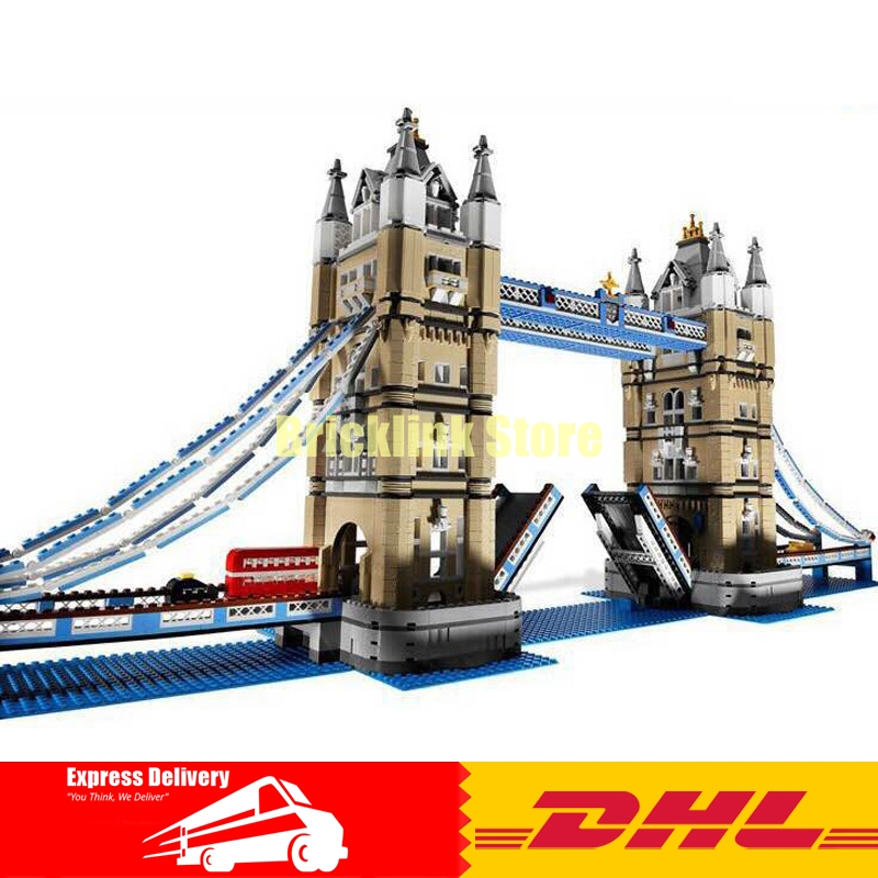 Fit For 10214 IN STOCK LEPIN 17004 4295pcs London bridge Model Set Building Kits Blocks Bricks Christmas Gift Toy in stock new lepin 17004 city street series london bridge model building kits assembling brick toys compatible 10214