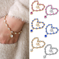 Splendid Heart Shape Crystal Bracelet Women's Korea Style Magic Imitation Bracelet Fashion Gift 52JB