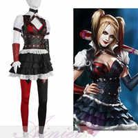 Batman Arkham Asylum Harley Quinn Cosplay คริสต์มาสชุดฆ่าตัวตาย Squad คอสเพลย์เครื่องแต่งกายชุดเครื่องแต่งกายฮาโลวีนสำหรับผู้หญิง