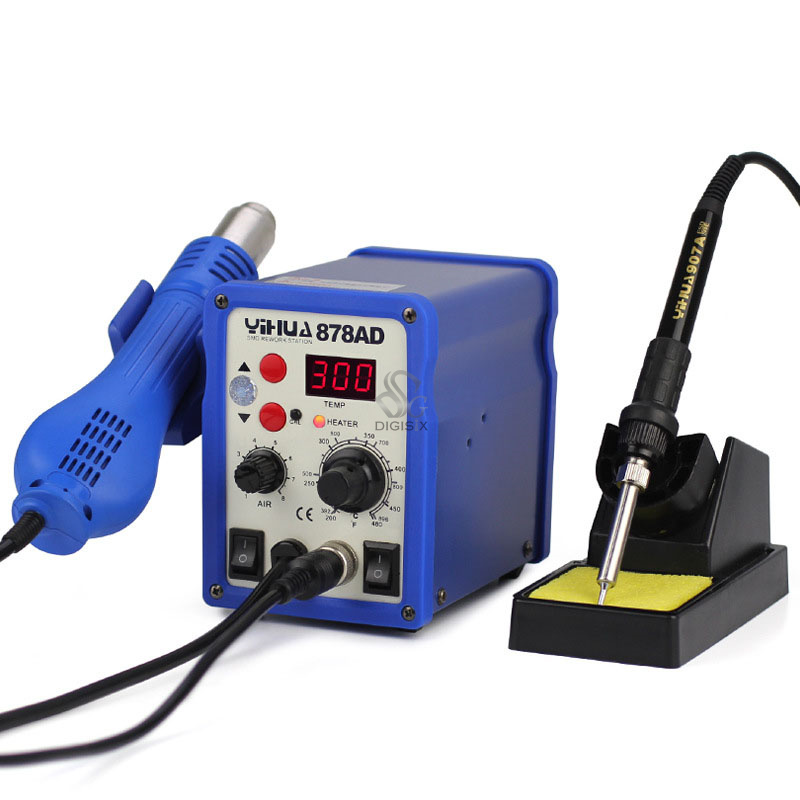220V 878AD 2 in 1 Constant Temperature Digital Soldering Station Solder Iron220V 878AD 2 in 1 Constant Temperature Digital Soldering Station Solder Iron