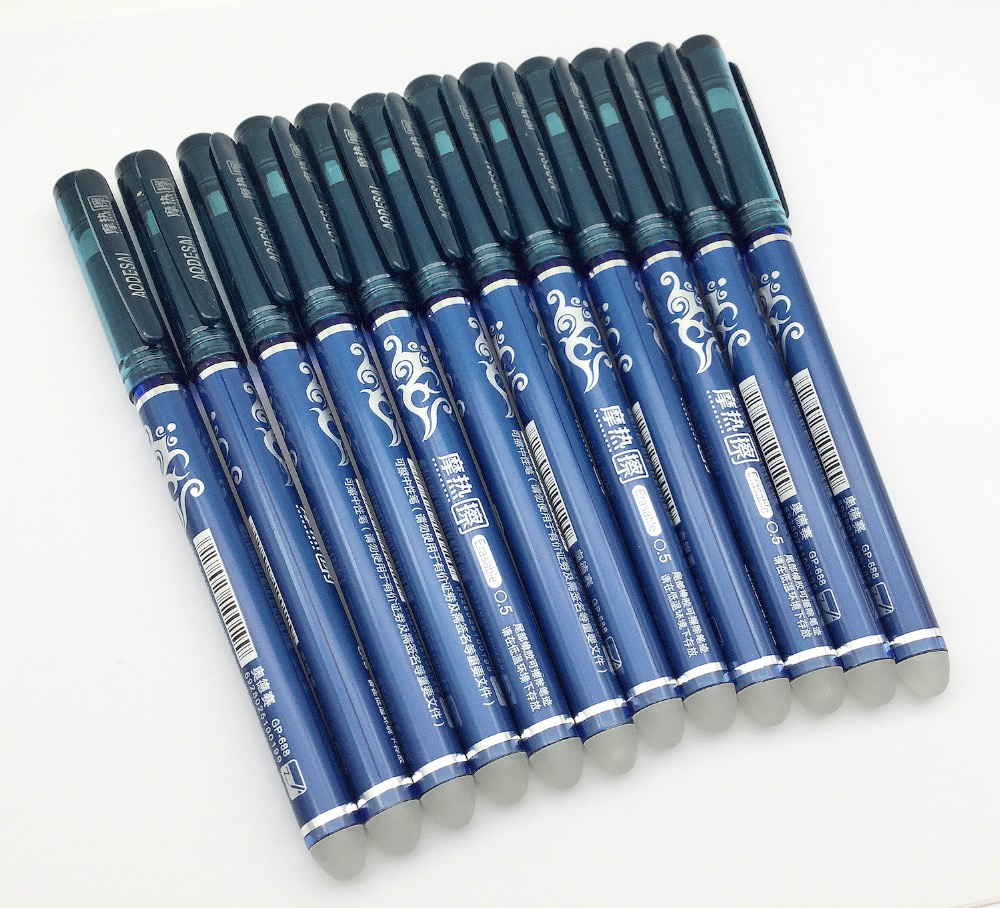 12 Pcs Set Friction Erasable Pens Unisex Pens W Bonus 6 PCS Eraserble Refills Unisex 0