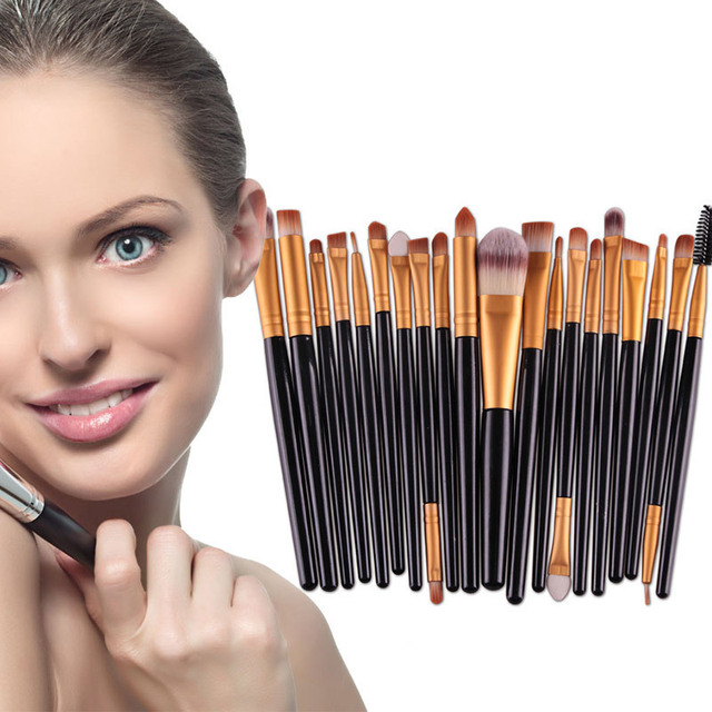 20PCS New Fashion Makeup Brushes Set Eye Shadow Foundation Powder Eyeliner Eyelash Lip Make Up Brush Cosmetic Beauty Tool Kits