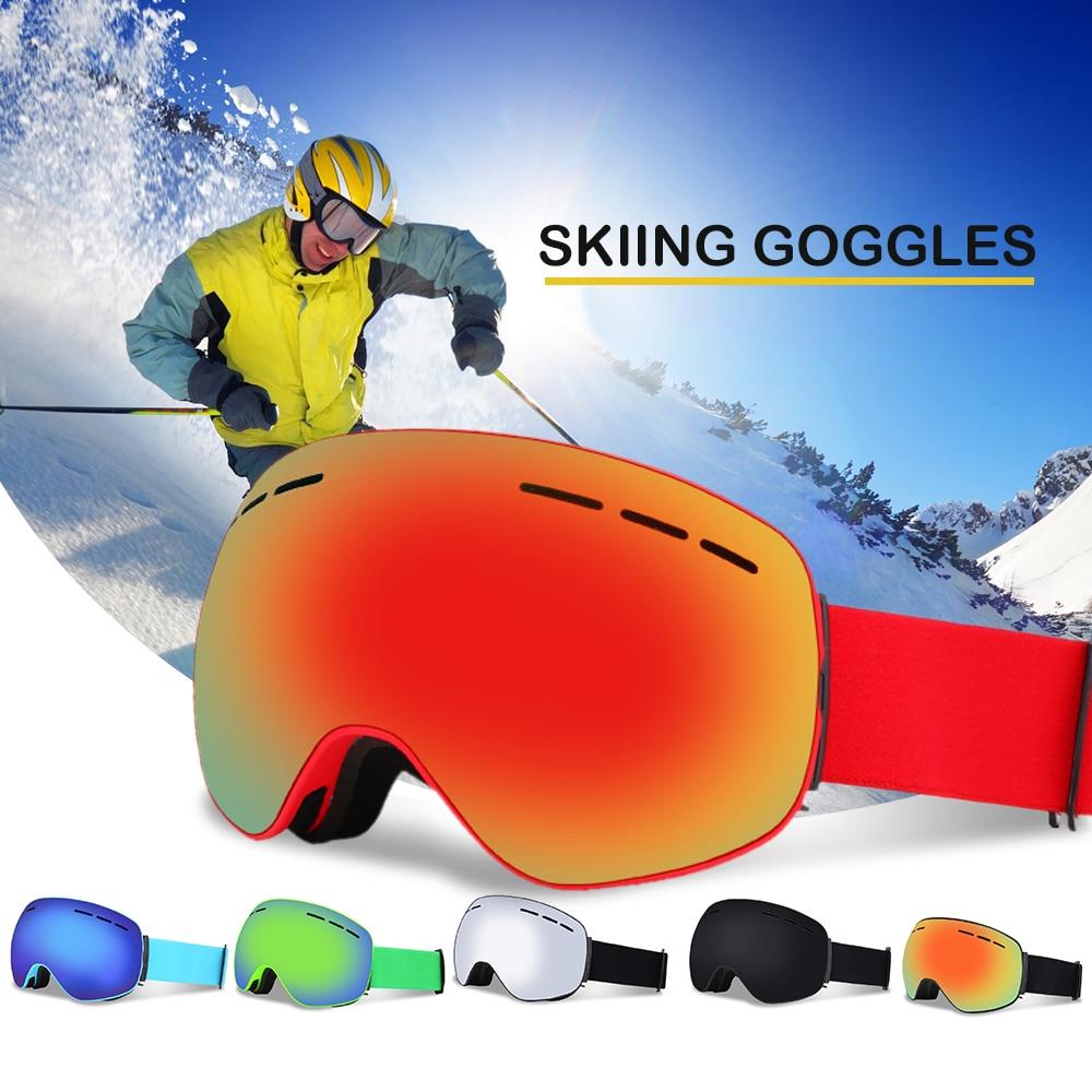 6030baba51f Anti-fog Snow Skiing Goggle Skating Eyewear Winter Skiing Goggle UV400 Dual  Lens Snowboard Goggles