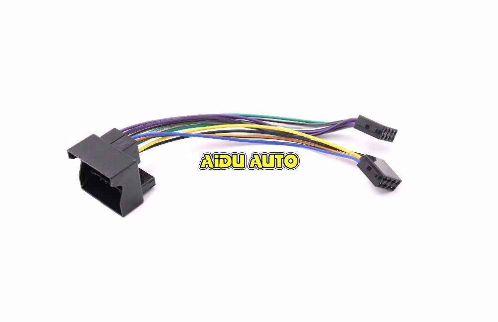 RCN210 Radio plug Adapter Upgrade CABLE For Golf MK6 VI Jetta MK5 Passat B6