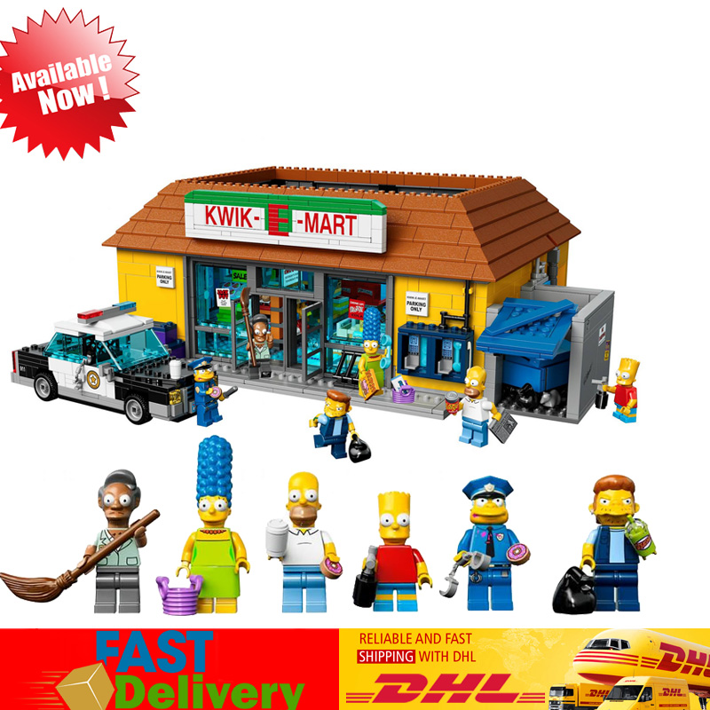 LEPIN 16004 2232Pcs The Simpsons KWIK-E-MART Action Model Building Block Bricks Educational Toys Compatible LegoINGlys 71016