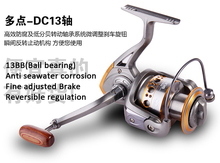 Fishing Spinning reel 1000-7000 reels 13BB Ball bearing Salt Fresh water Sea casting lure Bass tackle line Pesca Anticorrosive