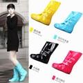 4 Colores Del Caramelo de Las Mujeres Botas de Lluvia de la Cubierta Del Zapato Para Muchachas de Las Señoras Casual Caminar Al Aire Libre de la Caza A Prueba de agua Zapatos De Goma Rainboots Pvc
