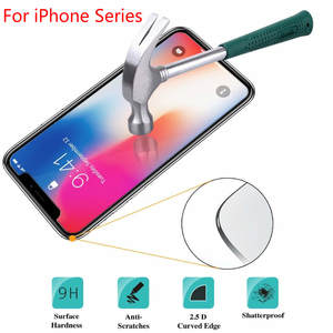 Tempered Glass For iPhone XS Max XR X 5c 5s 5se 4 4s 9H Tough Protection Screen Protector