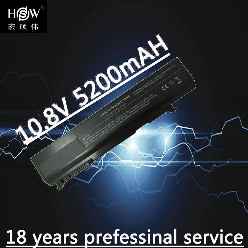 HSW 5200MAH Laptop Battery for Toshiba Satellite Pro U200 U205 Tecra A10 PA3356U-3BAS PA3356U-3BRS PA3357U-1BRL PA3357U-3BRL цена