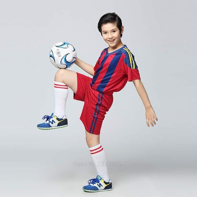survetement football jerseys 2017 sports kit Kids Football Jersey Boys  Custom Soccer Set Youth Football Uniform c9d59d838