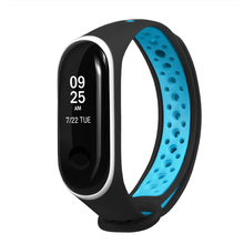 Soft silicone bands for Xiaomi Mi Band 3 Replacement Strap Multicolor Bracelet NFC Porous ventilation Sports
