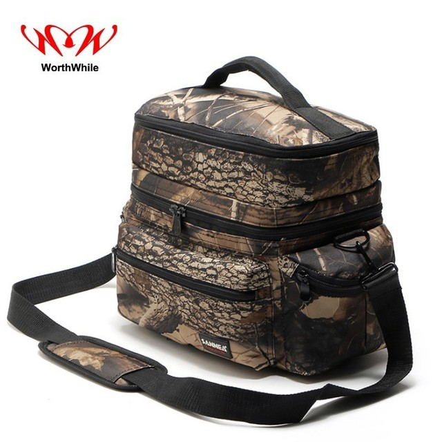 WorthWhile Camping Picnic Bag Thermal Portable Kid Women Outdoor Hiking Fresh Storage Hand Bag Lunch Cooler Oxford Cloth Box