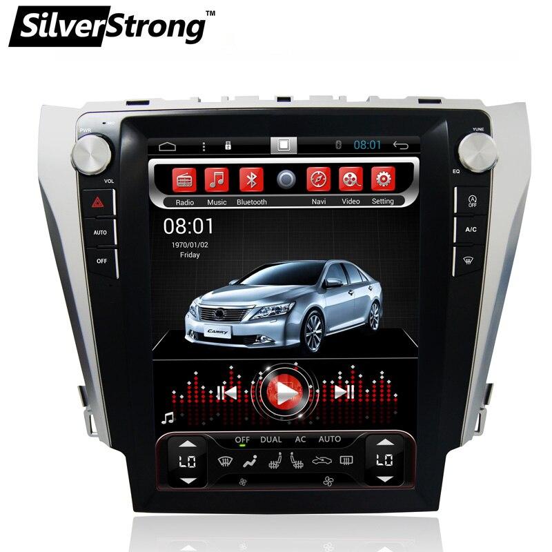 SilverStrong 12.1 ''IPS Schermo Android6.0 32 gb Tesla Dell'automobile Dello Schermo di GPS Per Toyota Camry 2012-2015 supporto JBL amp AC clima