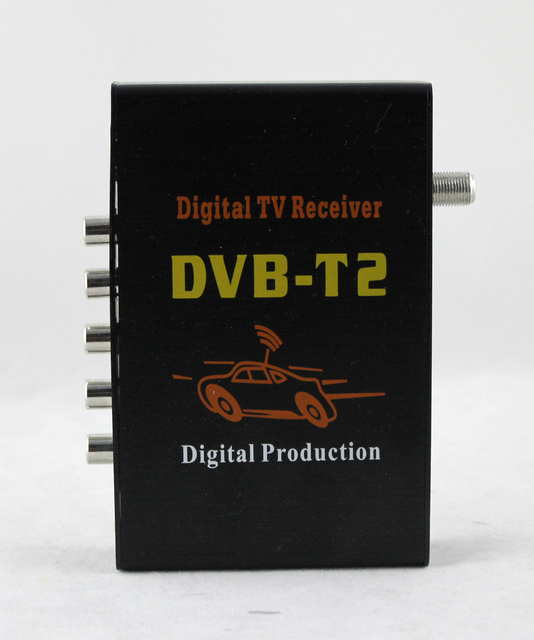 Carro dvb-t2 Carro Receptor de TV Digital Sintonizador H.264 DVB-T2 MPEG4 Digital SET TOP BOX Sintonizador Único para Carro dvd Android 8.0/8.1 jogador