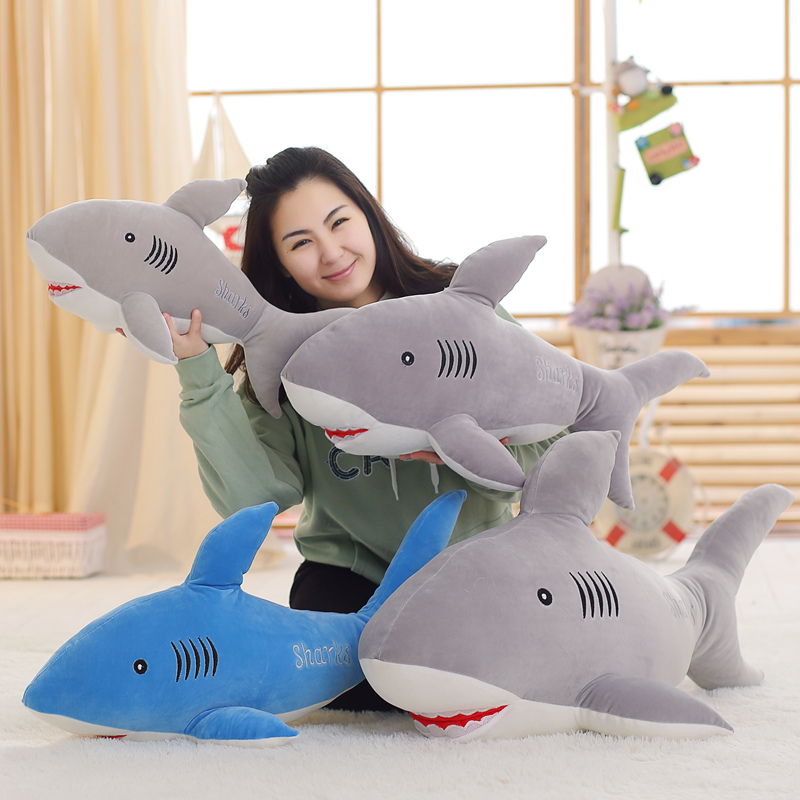 50-110cm Plush Ocean Cartoon Shark Toys Soft Cute Pillow Super Soft Stuffed Animal Shark Dolls Best Gifts for Kids Friend Baby