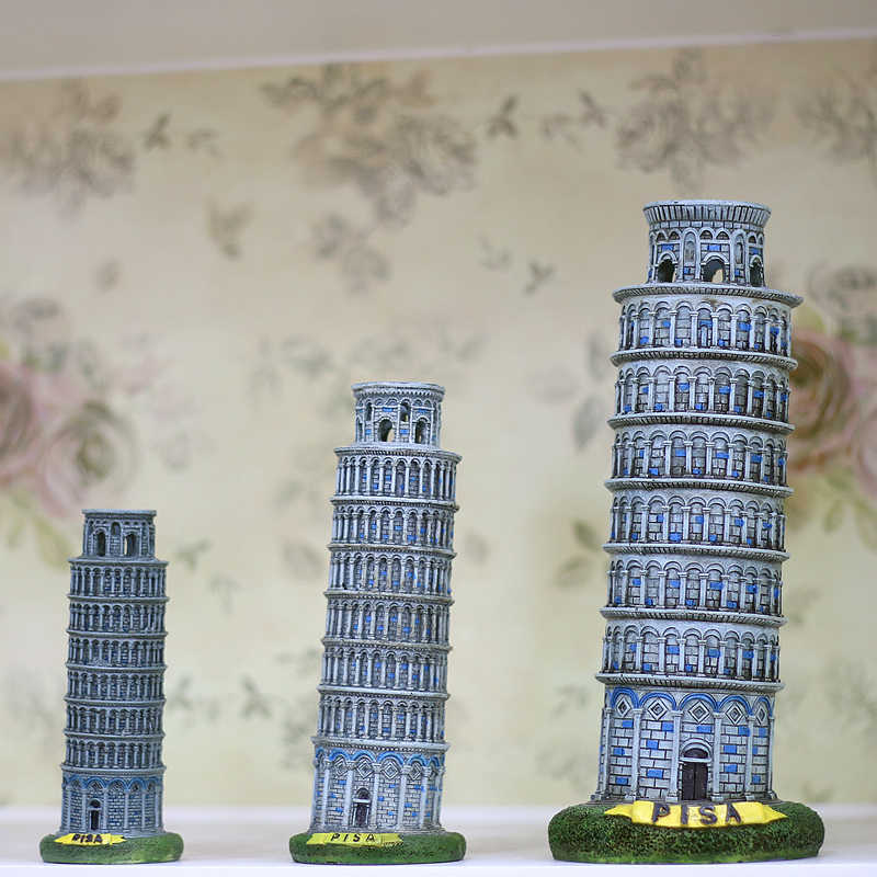 Italy Architecture Leaning Tower of Pisa Model Crafts Ornament European-style Home Decor Travel Souvenir Torre di Pisa figures