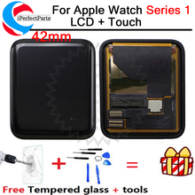 ل أبل سلسلة ساعة 1 شاشة الكريستال السائل مجموعة المحولات الرقمية لشاشة تعمل بلمس 38/42 مللي متر A1802 A1803 A1553 A1554 ل أبل ساعة s1 LCD