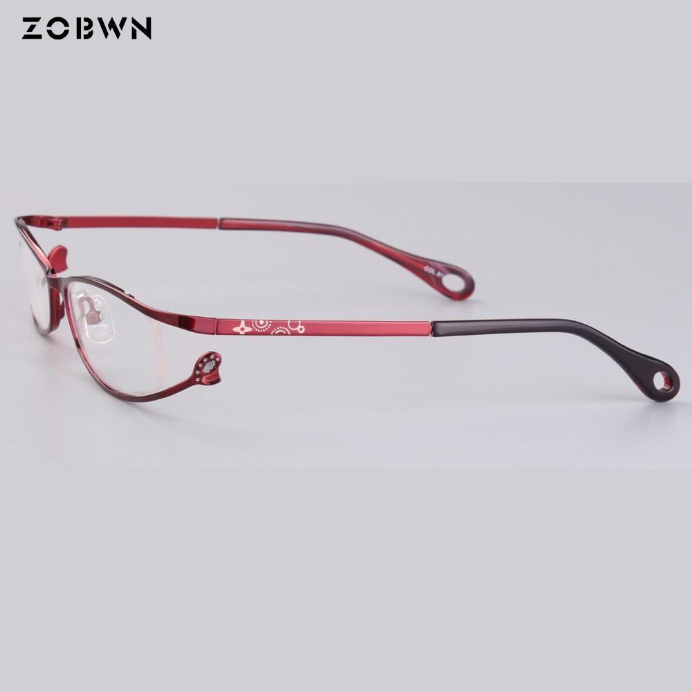 0bea6fc0ea63 wholesale as little quantity fake full Frames ladies Optics Eyeglasses  women Clear Glasses Frame red white for prescription eye-in Eyewear Frames  from ...