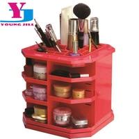 2016 New Fashion 360 Degree Supper Make Up Storage Cosmetic Display High Quality Brush Lipstick Bigger Storage Stand Box