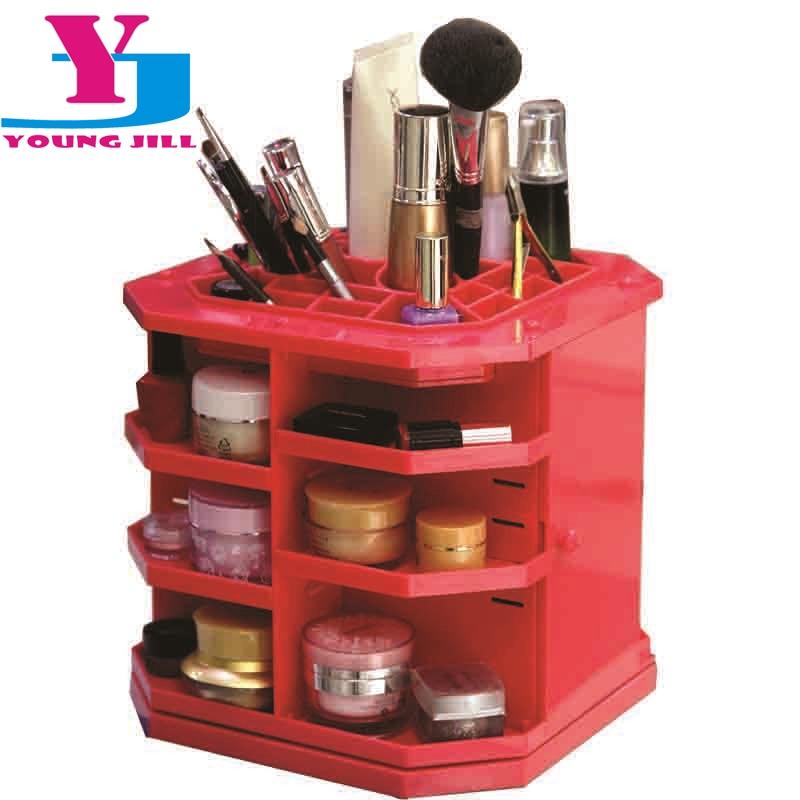 2016 nouvelle mode 360 degrés souper maquillage stockage cosmétique affichage de haute qualité brosse rouge à lèvres plus grande boîte de stockage Stand