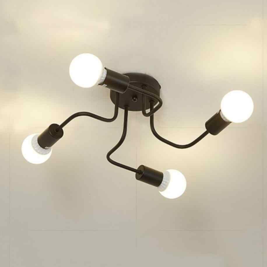 Европейский четыре E27 лампы Железный люстры для гостиной белый/черные светодиодные лампы современное освещение люстры led блеск освещение лампы 5