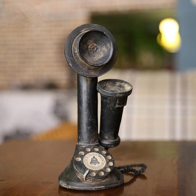 American Nostalgia Style Receiver Telephone Mode Vintage Bar Home Decor Crafts Are Retro Telephones 22