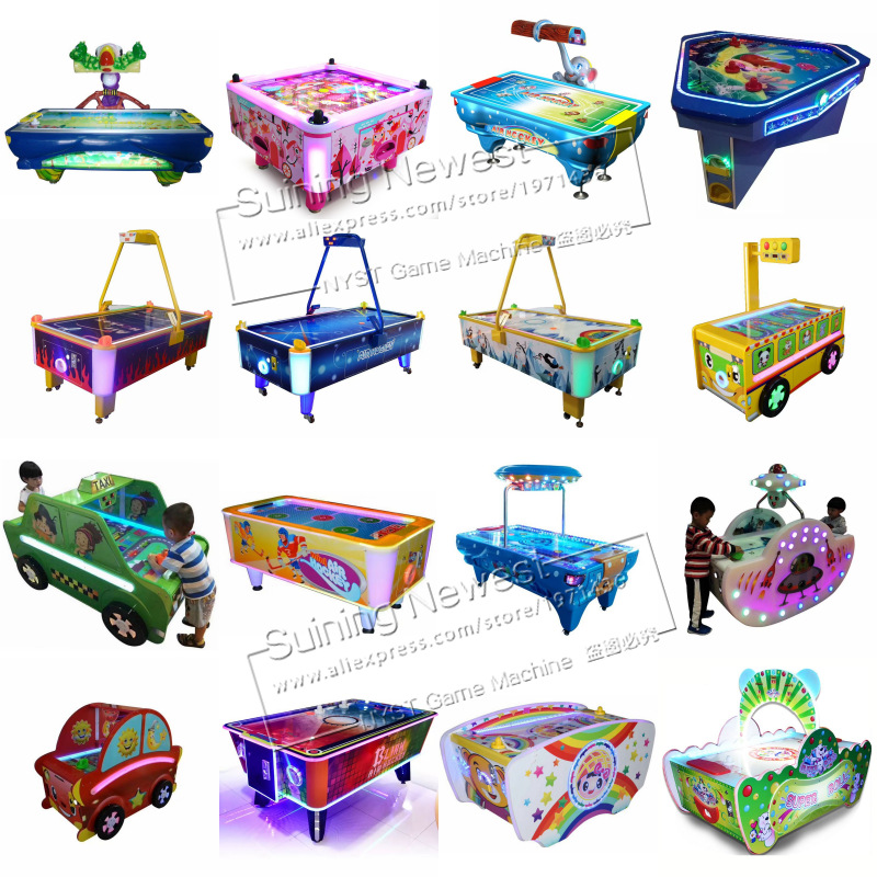 Amusement Device Coin Operated Tickets Redemption Arcade Game Machine Air Hockey Table For Kids and Adults