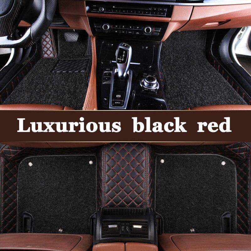 Custom fit car floor mats for VW Bora Polo Golf 6 7 Phaeton Jetta Beetle Gran Lavida magotan car styling carpet floor liner