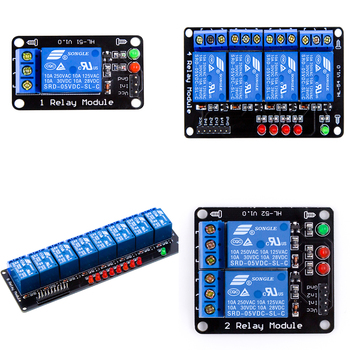 цена на 1 / 2 / 4 / 8 Channel Relay Module without light coupling 5V  for Arduino diy kit