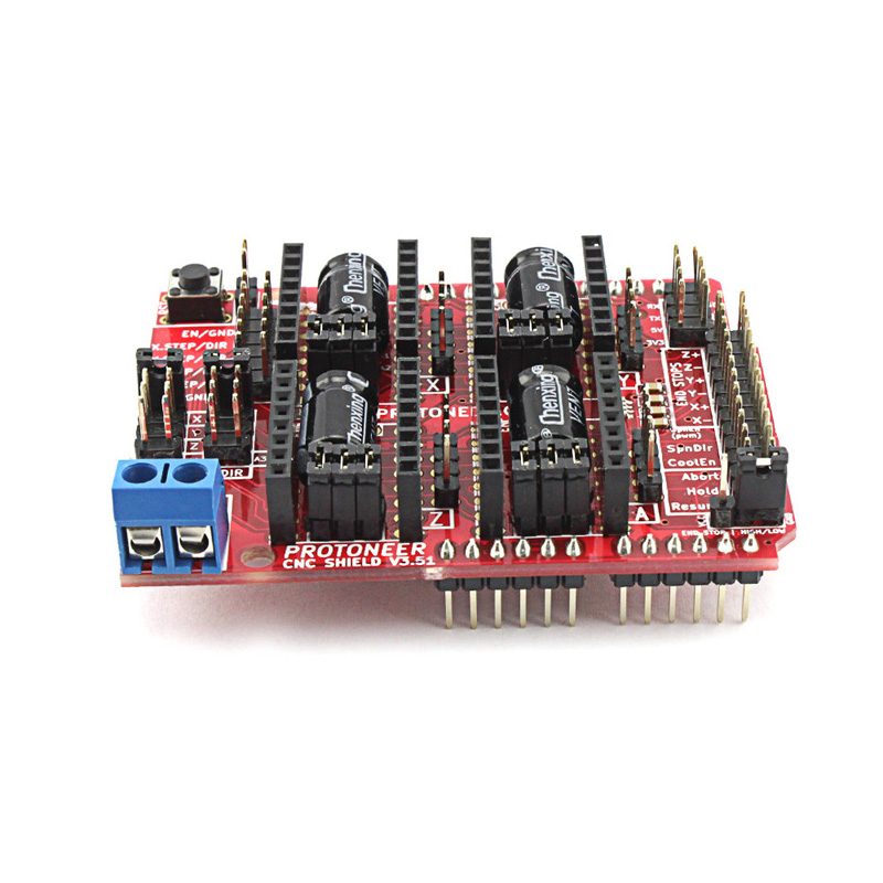 Elecrow CNC Shield V3.51 for Arduino GRBL v0.9 Compatible with PWM Spind Board DIY CNC Projects Uses Pololu Drivers ...